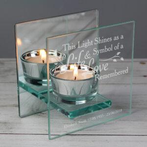 Personalised Gifts - Personalised Tea Light Holders
