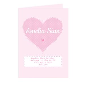 Personalised Newborn Baby Cards