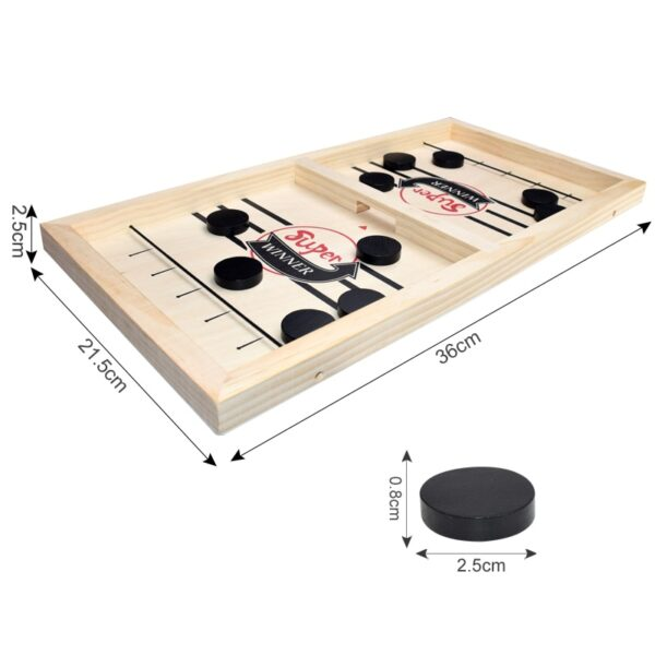 Fast Sling Puck Game Paced Wooden Table Hockey Winner Games Interactive Chess Toys For Adult Children Desktop Battle Board Game