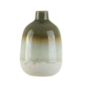 Rustic Stone Vase l Mojave Vase - Green l Perk Up Your Day