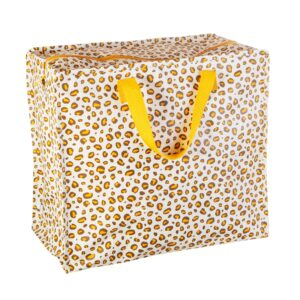Natural Leopard Print Travel Laundry Bag l Perk Up Your Day
