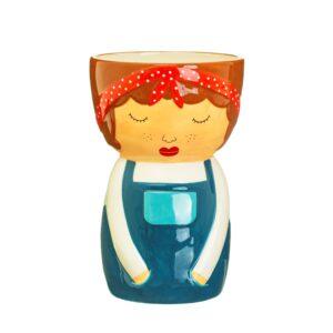 Libby Vase l People Vase l Hand Painted Ceramic Vase l Perk Up Your Day