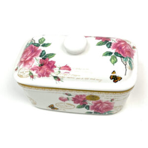 Butter Dish Floral