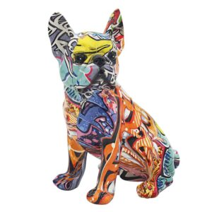 Graffiti Bulldog Figurine l Ornament l Statue - Perk Up Your Day