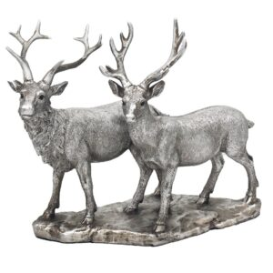 Stag & Deer Ornament l Statue l Figurine l Silver - Perk Up Your Day