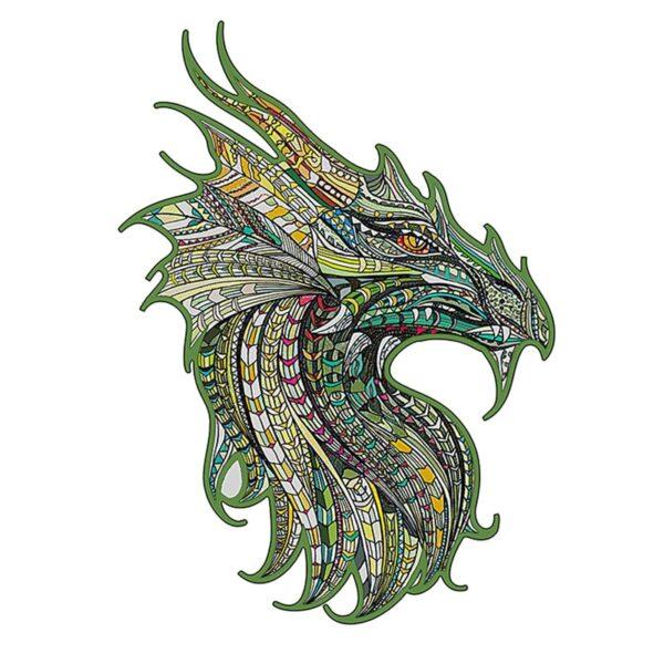 Jigsaw Puzzle Green Dragon